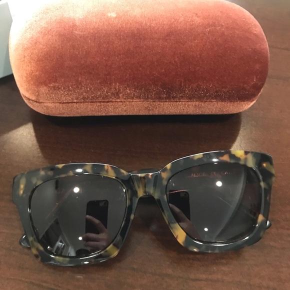 789676dbd6c7 ganni Accessories   Alice Squareframe Sunglasses Tortoise   Poshmark
